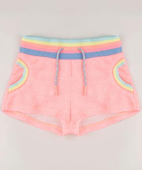 Short-Infantil-em-Moletom-com-Tira-para-Amarracao--Rosa-Neon-9580684-Rosa_Neon_1