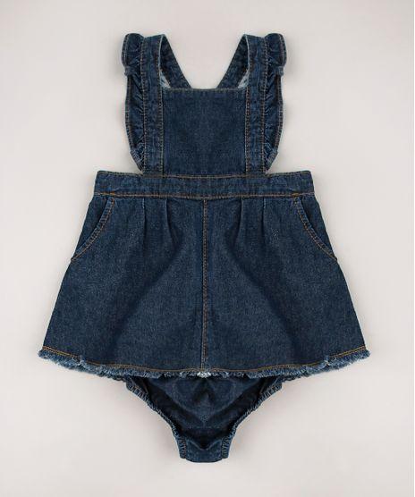 Salopete-Jeans-Infantil-com-Babado---Calcinha-Azul-Escuro-9678390-Azul_Escuro_1