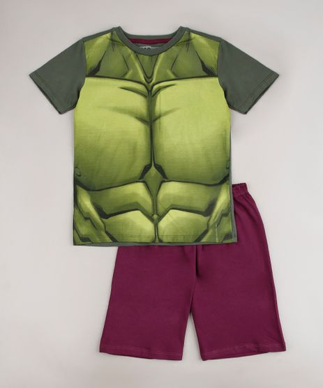 Pijama-Infantil-Hulk-Manga-Curta-Verde-9634446-Verde_1