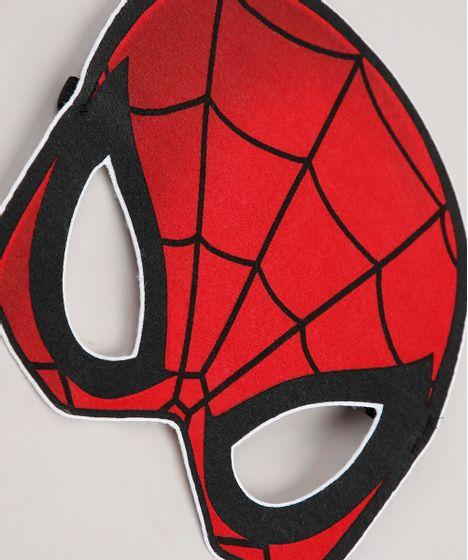 Regata Infantil Carnaval Homem Aranha Mascara Vermelha Cea