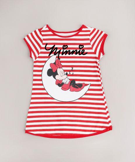 Camisola-Infantil-Minnie-Listrada-Manga-Curta-Vermelha-9641221-Vermelho_1
