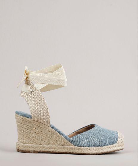 Espadrille-Jeans-Feminina-Oneself-Anabela-com-Corda-e-Amarracao-Azul-Claro-9702589-Azul_Claro_1