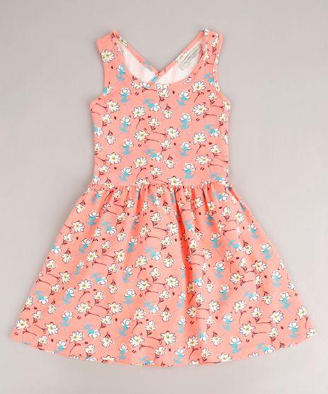 Vestido-Infantil-Estampando-Floral-com-Transpasse-Alca-Media-Coral-Neon-9705293-Coral_Neon_1