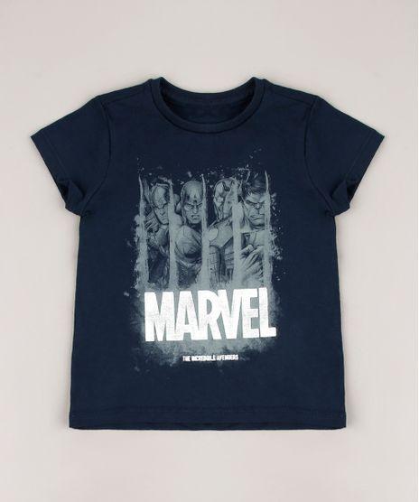 Camiseta-Infantil-Marvel-Metalizado-Manga-Curta-Azul-Marinho-9715169-Azul_Marinho_1