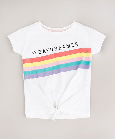 Blusa-Infantil--Daydreamer--com-Glitter-e-No-Manga-Curta-Off-White-9669319-Off_White_1