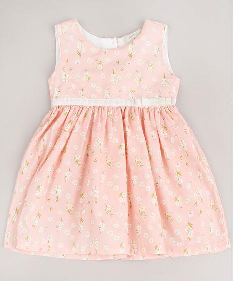 Vestido-Infantil-Estampado-Floral-com-Laco-Rosa-Claro-9566304-Rosa_Claro_1