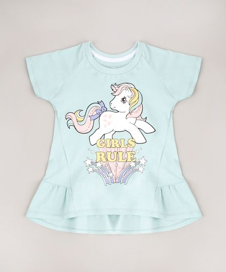 Blusa-Infantil-My-Little-Pony-com-Babado-e-Glitter-Manga-Curta-Verde-Claro-9675163-Verde_Claro_1