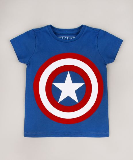 Camiseta-Infantil-Capitao-America-Manga-Curta-Azul-9715170-Azul_1