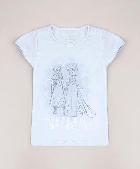 Blusa-Infantil-Frozen-Elsa-e-Anna-com-Glitter-Manga-Curta-Azul-Claro-9687837-Azul_Claro_1