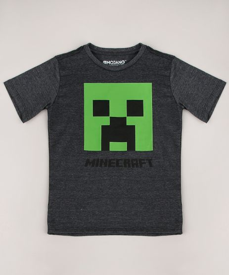 Camiseta-Infantil-Minecraft-Manga-Curta-Cinza-Mescla-Escuro-9674460-Cinza_Mescla_Escuro_1