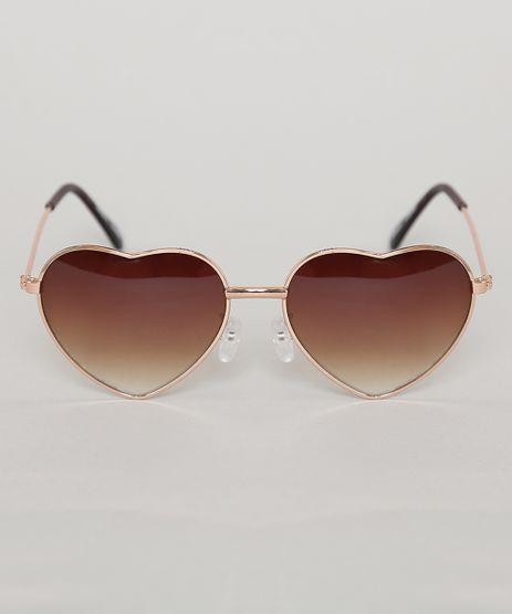 Oculos-de-Sol-Coracao-Infantil-Oneself-Marrom-9789463-Marrom_1