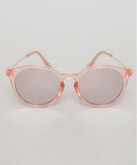 Oculos-de-Sol-Redondo-Infantil-Oneself-Rose-9789496-Rose_1
