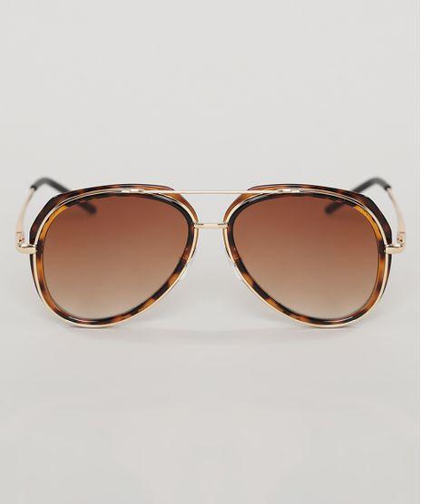 Oculos-de-Sol-Aviador-Infantil-Oneself-Tartaruga-9789538-Tartaruga_1