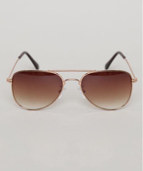 Oculos-de-Sol-Aviador-Infantil-Oneself-Dourado-9789478-Dourado_1