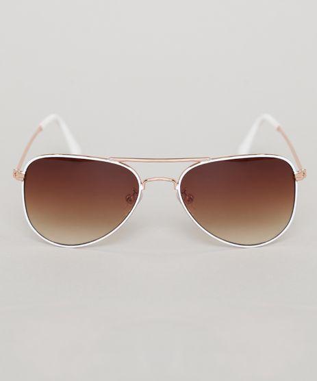 Oculos-de-Sol-Aviador-Infantil-Oneself-Branco-9789475-Branco_1
