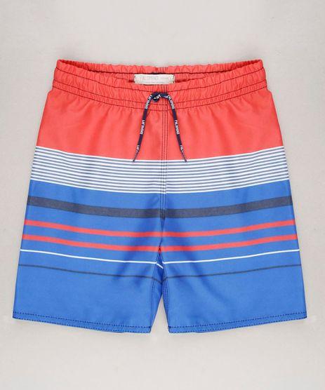 Bermuda-Surf-Infantil-Listrado-com-Velcro-e-Cordao-Laranja-9644135-Laranja_1