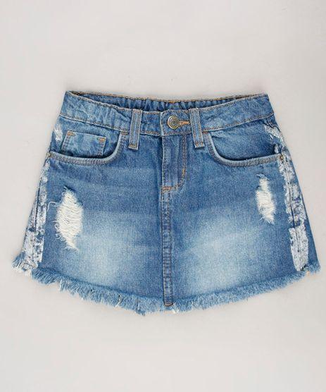 Short-Saia-Infantil-Destroyed-com-Faixa-Lateral-Metalizada-Azul-Medio-9672128-Azul_Medio_1