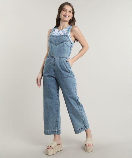 Macacao-Jeans-Feminino-Pantacourt-com-Bolsos-Alca-Larga-Azul-Claro-9756591-Azul_Claro_1