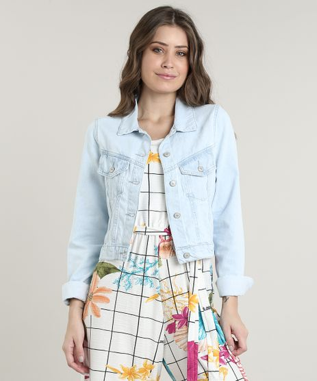 Jaqueta-Jeans-Feminina-Cropped-com-Bolsos-Azul-Claro-9750170-Azul_Claro_1