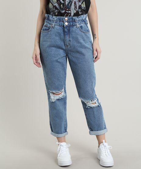 Calca-Jeans-Feminina-Mom-Destroyed-Azul-Medio-9756060-Azul_Medio_1