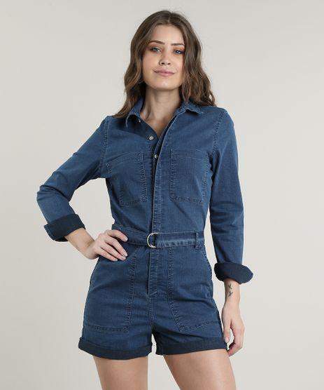 Macaquinho-Jeans-Feminino-com-Bolsos-e-Cinto-Manga-Longa-Azul-Medio-9754216-Azul_Medio_1