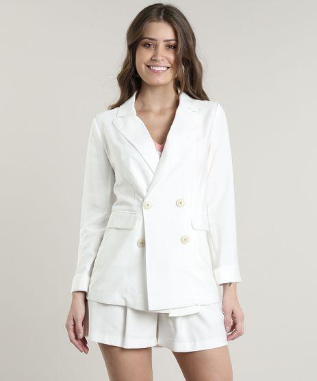 Blazer-Feminino-Longo-Transpassado-com-Bolsos-Off-White-9647497-Off_White_1
