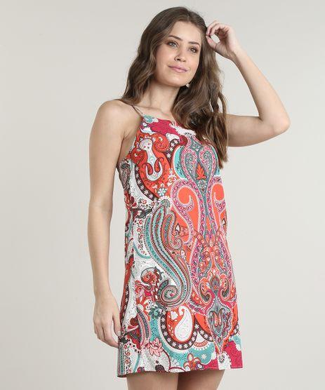 Vestido-Feminino-Curto-Estampado-Paisley-Alcas-Finas-Laranja-9640599-Laranja_1