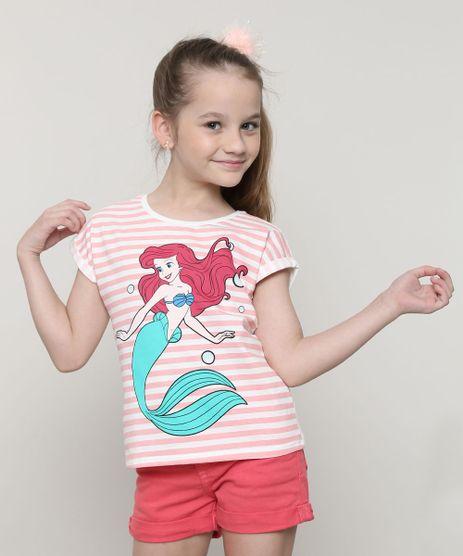 Blusa-Infantil-Pequena-Sereia-Ariel-com-Listras-Manga-Curta-Branca-9657902-Branco_1