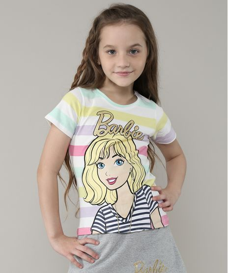 Blusa-Infantil-Barbie-Listrada-Manga-Curta--Branca-9637433-Branco_1