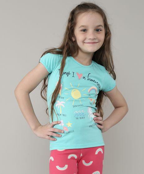Blusa-Infantil--Things-I-Love-in-Summer--com-Glitter-Manga-Curta-Verde-Agua-9657896-Verde_Agua_1
