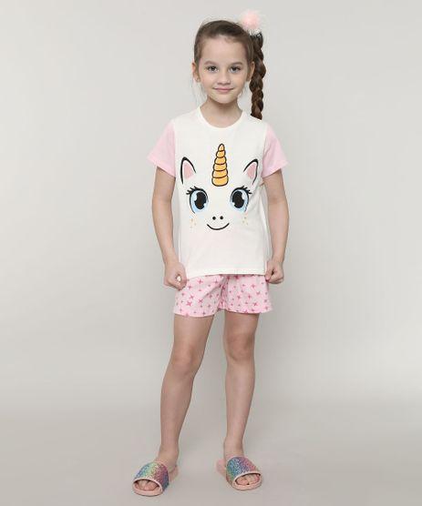 Pijama-Infantil-Unicornio-Estampado-Manga-Curta-Off-White-9641223-Off_White_1