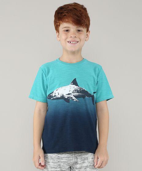 Camiseta-Infantil-Tubarao-com-Degrade-Manga-Curta-Verde-Agua-9696857-Verde_Agua_1