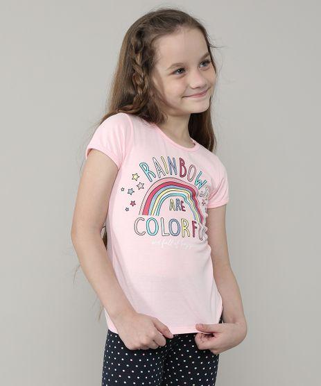Blusa-Infantil--Rainbows--Manga-Curta-Rosa-9657900-Rosa_1