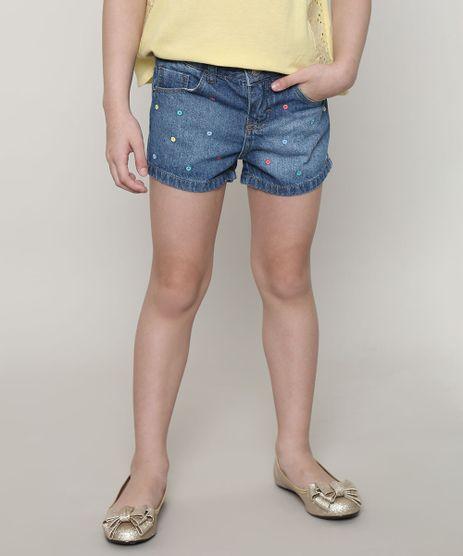 Short-Jeans-Infantil-Bordada-de-Poa-com-Bolsos-Azul-Medio-9638829-Azul_Medio_1