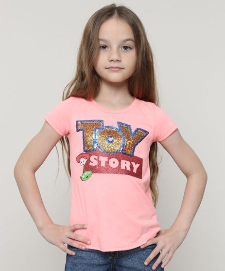 Blusa-Infantil-Toy-Story-com-Paete-Manga-Curta--Coral-Neon-9680986-Coral_Neon_1