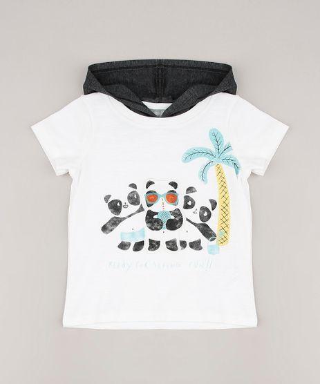 Camiseta-Infantil-com-Patch-de-Panda-e-Capuz-Manga-Curta-Off-White-9660061-Off_White_1