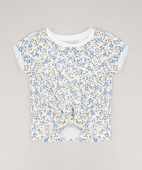 Blusa-Infantil-Estampada-Floral-com-No-e-Bolso-Manga-Curta-Off-White-9678251-Off_White_1