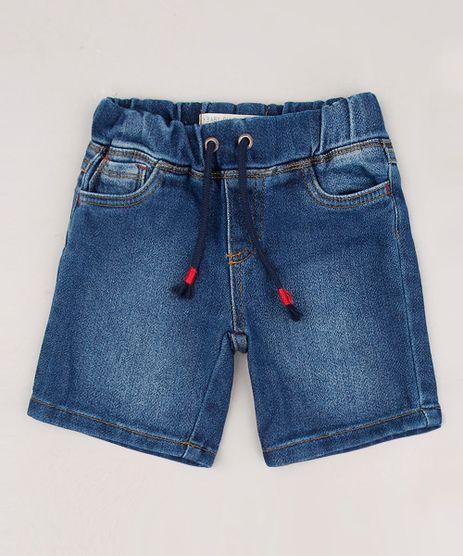 Bermuda-Jeans-Infantil-com-Cordao-Azul-Medio-9635835-Azul_Medio_1