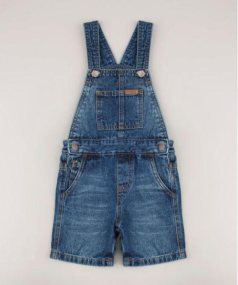 Jardineira-Jeans-Infantil-com-Bolsos-Azul-Escuro-9684475-Azul_Escuro_1