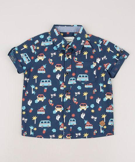 Camisa-Infantil-Estampada-de-Carros-com-Bolso-Manga-Curta-Azul-Marinho-9543941-Azul_Marinho_1