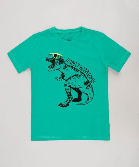 Camiseta-Infantil-Dinossauro-Manga-Curta-Verde-9662228-Verde_1
