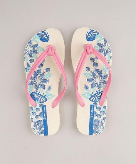 Chinelo-Feminino-Ipanema-Elo-Estampado-Floral-Bege-9690062-Bege_1