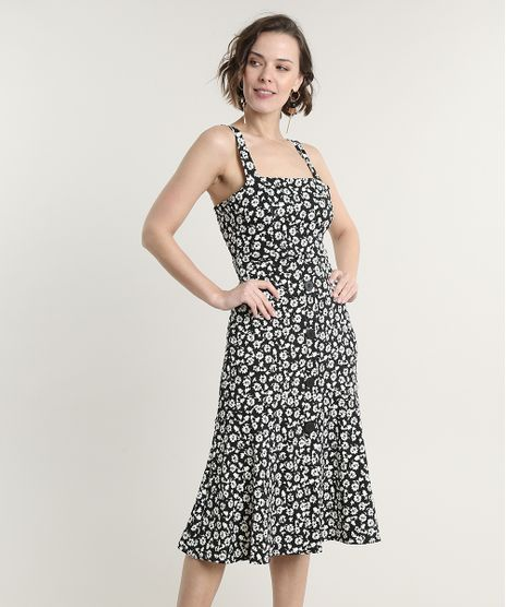 Vestido-Feminino-Midi-Estampado-Floral-com-Recorte-Alca-Media-Preto-9693995-Preto_1