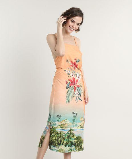 Vestido-Feminino-Midi-Halter-Neck-Estampado-Floral-com-Degrade-Alca-Fina-Coral-9643833-Coral_1