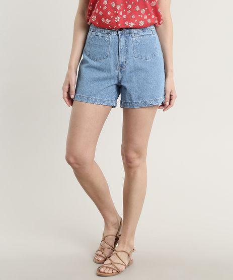 Short-Jeans-Feminino-com-Bolsos-Azul-Claro-9756594-Azul_Claro_1
