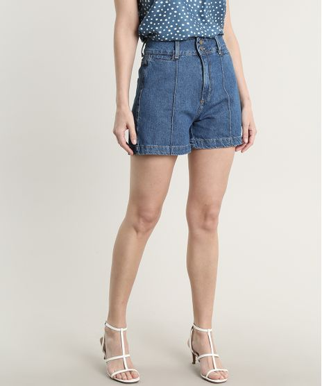 Short-Jeans-Feminino-com-Bolsos-Azul-Medio-9756593-Azul_Medio_1