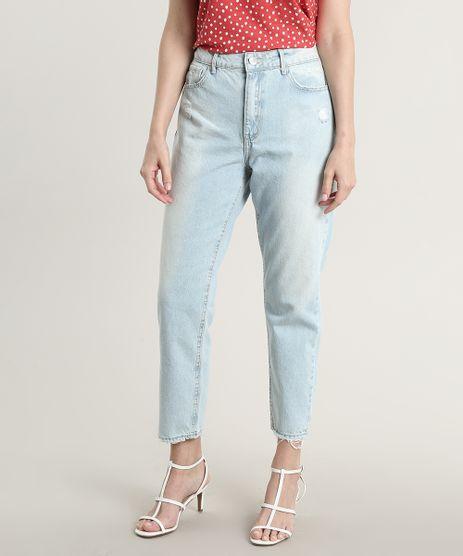 Calca-Jeans-Feminina-Skinny-com-Rasgos-Azul-Claro-9750184-Azul_Claro_1