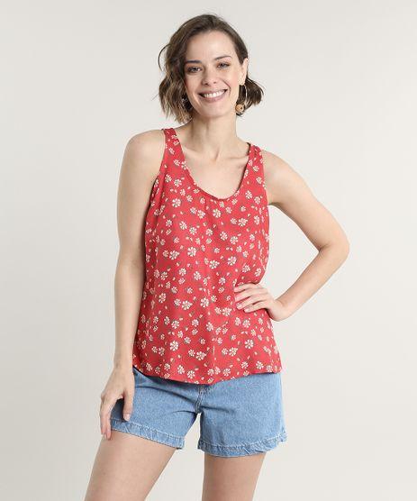 Regata-Feminina-Ampla-Estampada-Floral-Decote-Redondo--Vermelha-9672676-Vermelho_1