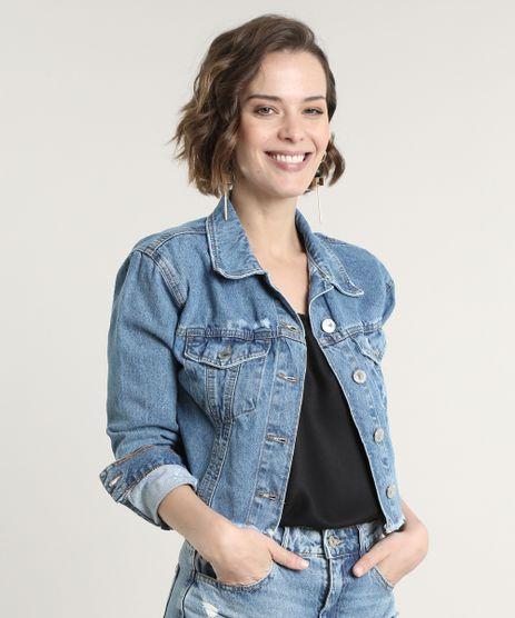 Jaqueta-Jeans-Feminina-Cropped-Destroyed-Azul-Escuro-9676269-Azul_Escuro_1