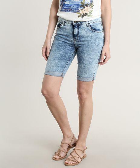Bermuda-Jeans-Feminina-Ciclista-com-Bolsos-Barra-Dobrada-Azul-Medio-9691582-Azul_Medio_1